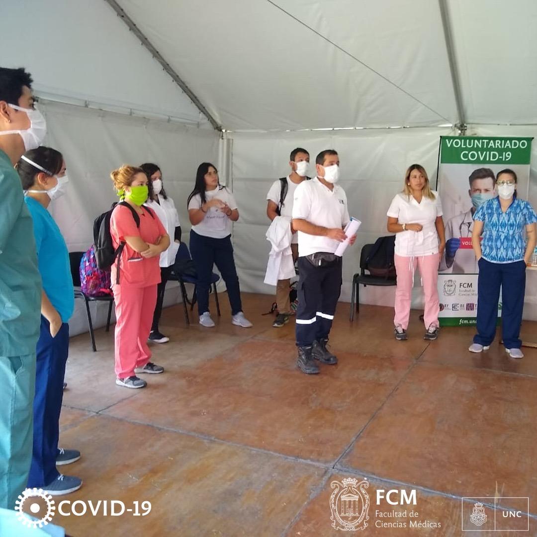 COVID-19: Voluntariado de la FCM se capacita