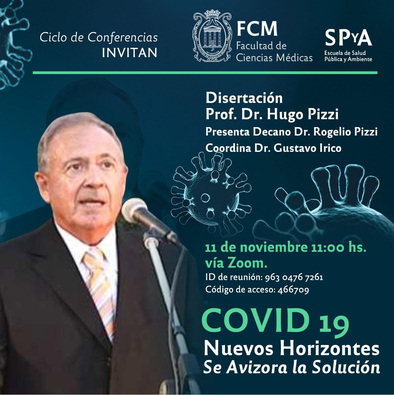 """Conferencia """"COVID-19: Nuevos horizontes. Se avizora la solución"""""""
