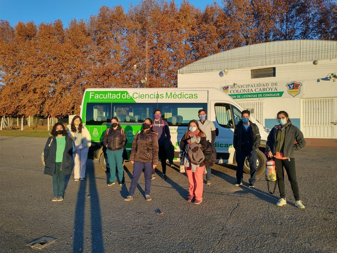 Estudiantes de la FCM colaboraron en Colonia Caroya realizando testeos