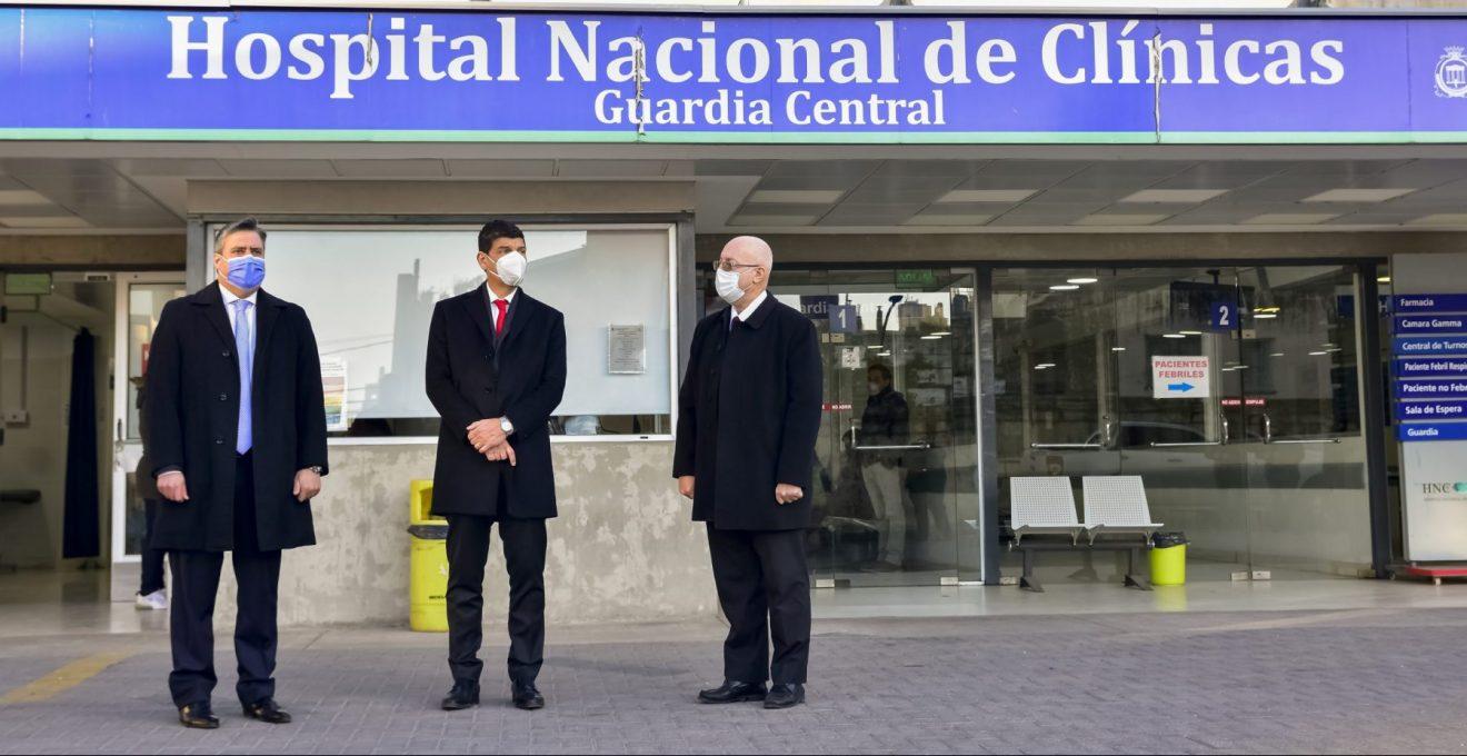 Arnaldo Medina recorrió el Hospital Nacional de Clínicas