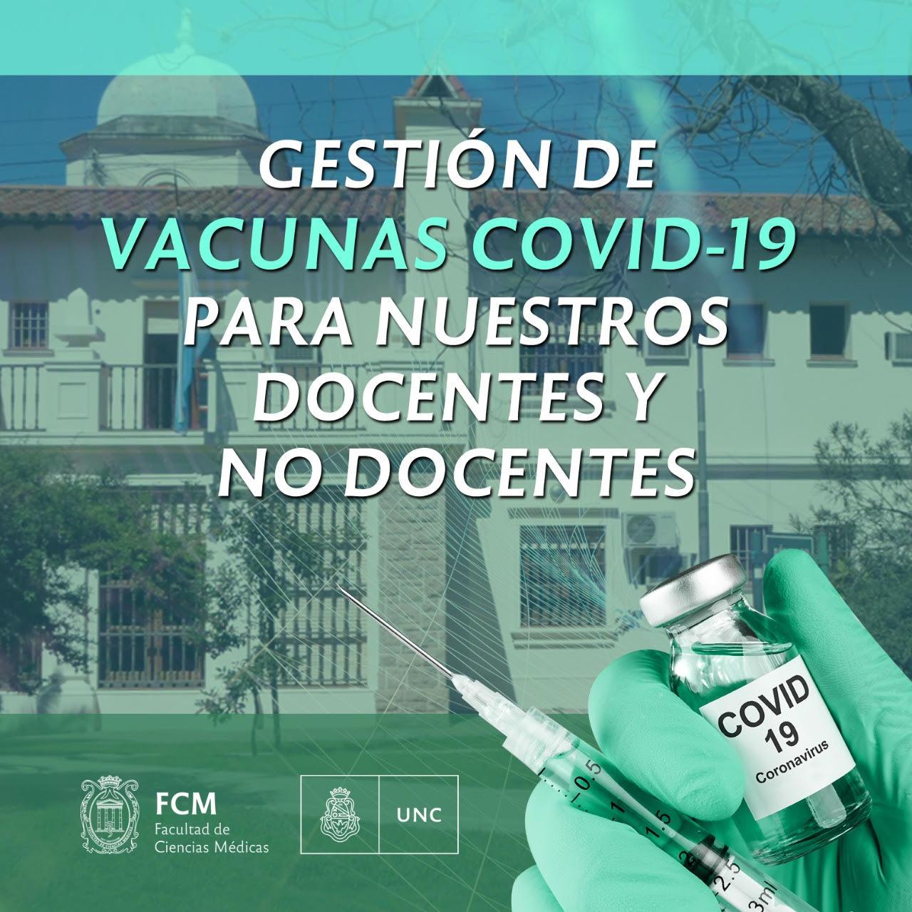 Gestión de vacunas Covid-19 para docentes y nodocentes de la FCM