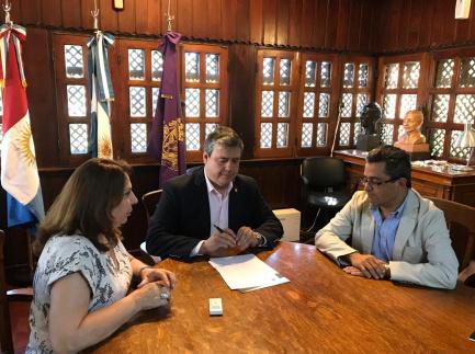 Lic. Ana Lía Gonzalez; Dr. Rogelio Pizzi; Dr. Gabriel Acevedo