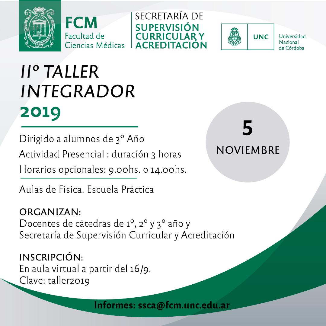2º TALLER INTEGRADOR 2019