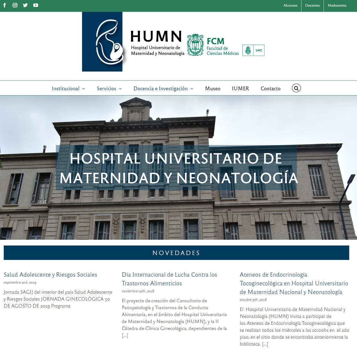 Nuevo sitio web para el HUMN