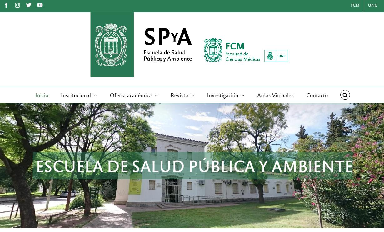 La Escuela de Salud Pública renovó su sitio web