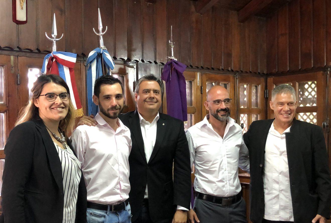 Visita del Intendente electo de Malvinas Argentinas