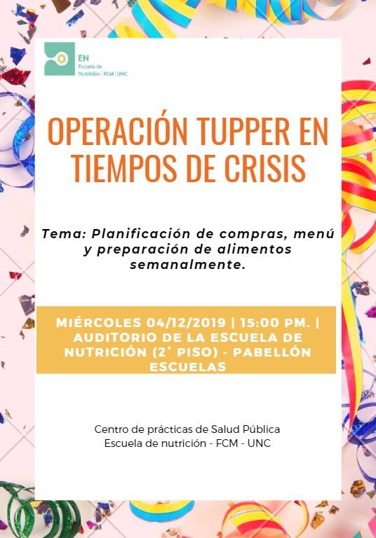 """Taller: """"Operación tupper en tiempos de crisis"""""""