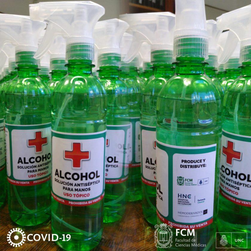Continuamos con la distribución de alcohol líquido y en gel