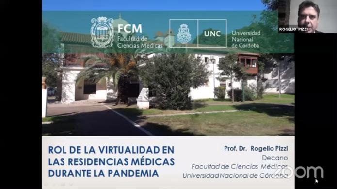 El Decano disertó en el III Seminario Virtual de la Red Andina de Asociaciones de Facultades de Medicina