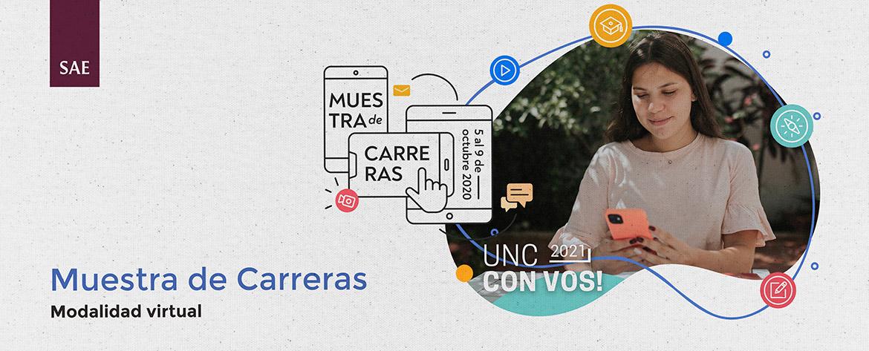 """Ya llega la Muestra de Carreras """"La UNC con Vos"""" Ingreso 2021"""