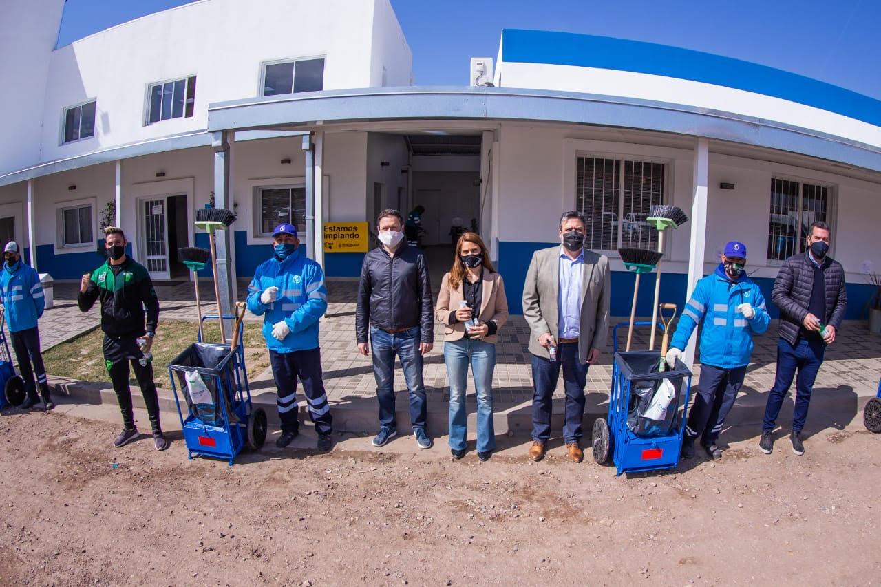 El Decano visitó la Base Parravicini de Córdoba Obras y Servicios
