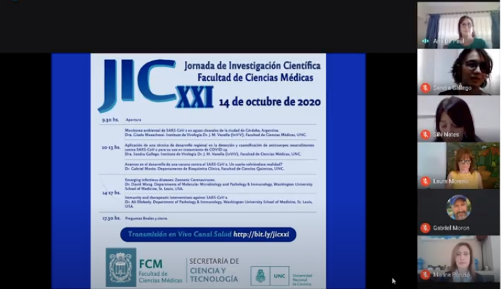 Se llevó a cabo de manera virtual la XXI Jornada de Investigación Científica JIC