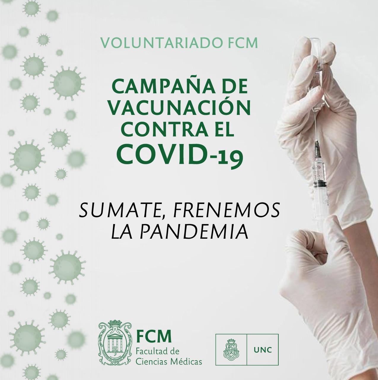 La FCM convoca a voluntarios para participar de la importante tarea de vacunar a la población contra el Covid-19