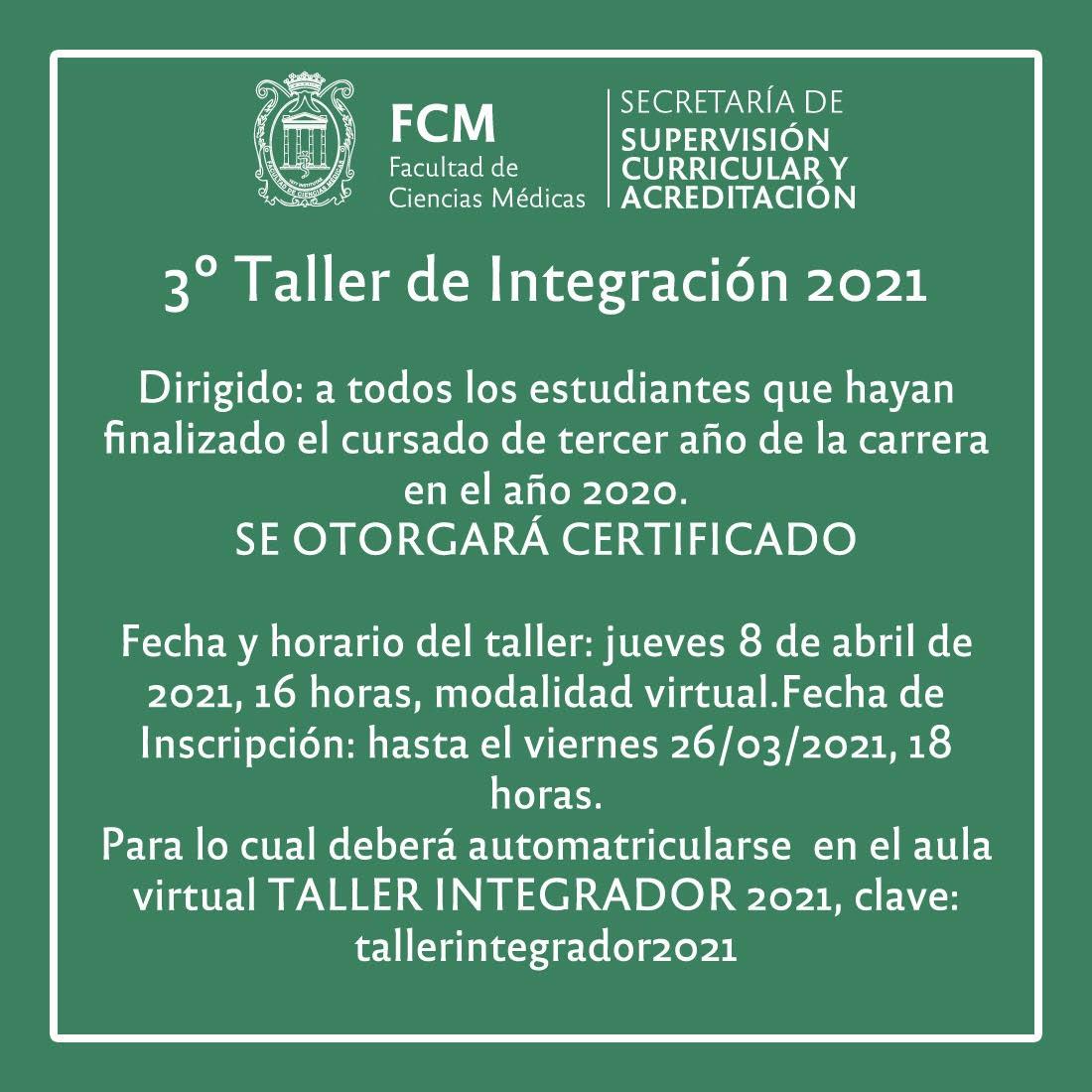 TALLER INTEGRADOR 2021