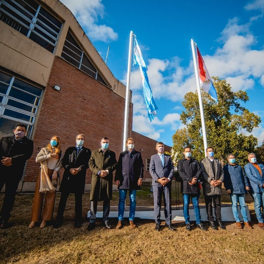 Rogelio Pizzi participó del acto por el Día de la Bandera en el Hospital de Niños